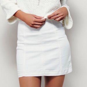 Free People Modern Femme White Mini Skirt